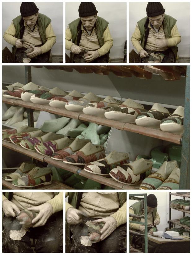 howto make a kilim slipper