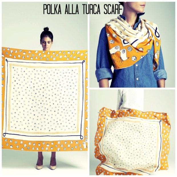 Polka alla turca scarf